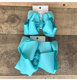 OS- Oceanwater Stacked Grosgrain Bow