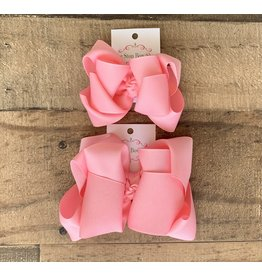 OS - Pink Stacked Grosgrain Bow