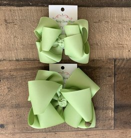 OS- Lime Juice Stacked Grosgrain Bow