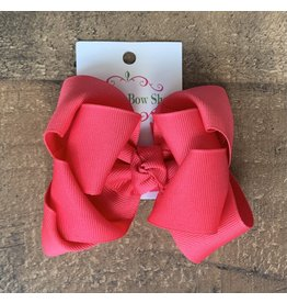 OS- Strawberry Punch Stacked Grosgrain Bow