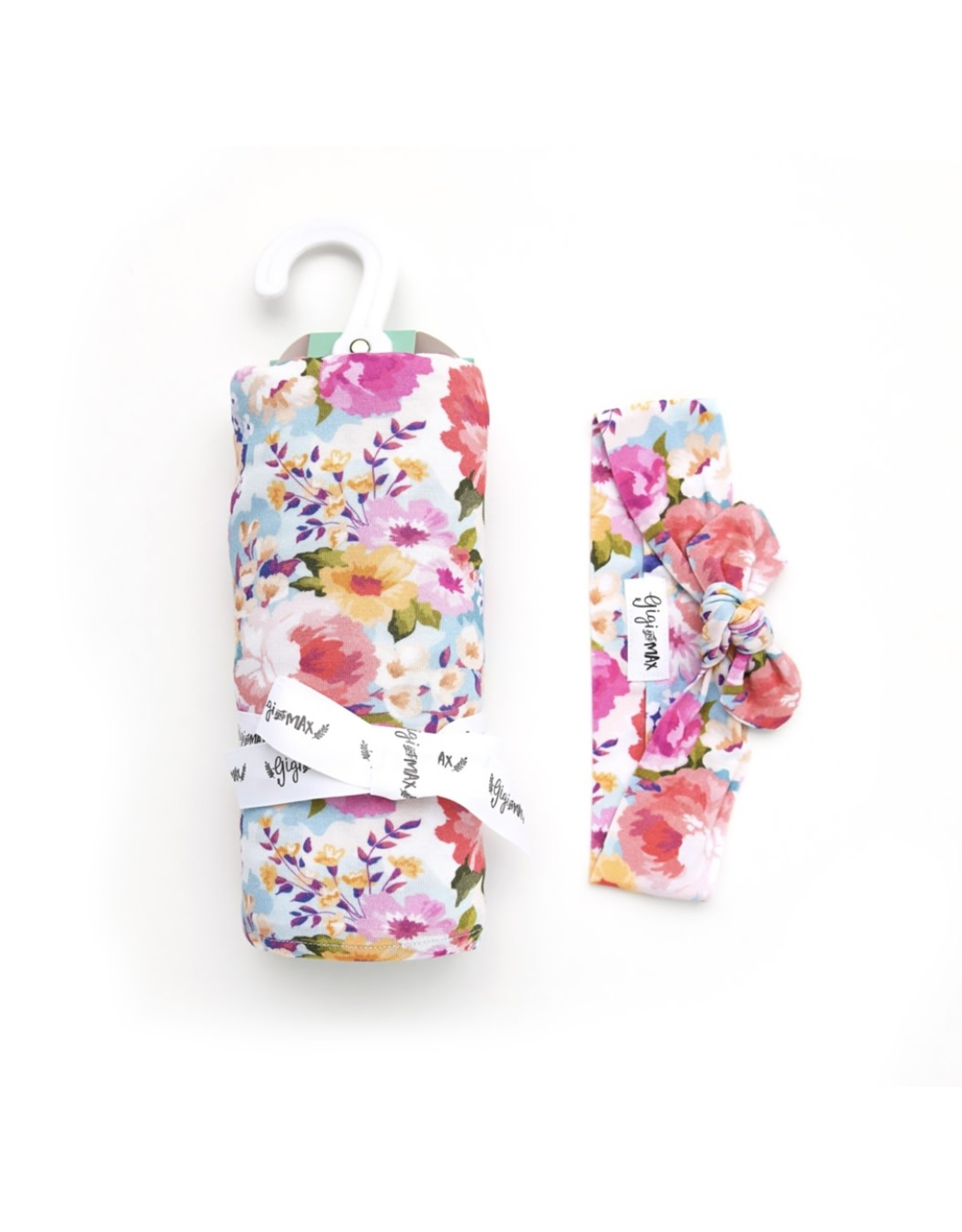 Gigi & Max Gigi & Max- Brooke Floral Swaddle & Headband Set