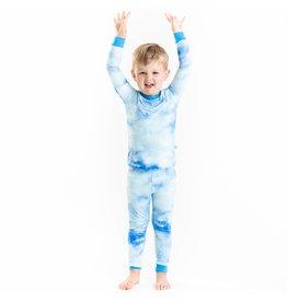 Little Sleepies Little Sleepies- Blue Watercolor Two-Piece Bamboo Pajama Set