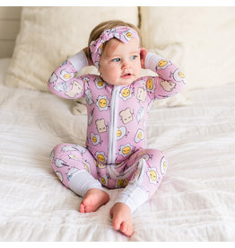 Little Sleepies Little Sleepies - Pink Breakfast Buddies Sleeper