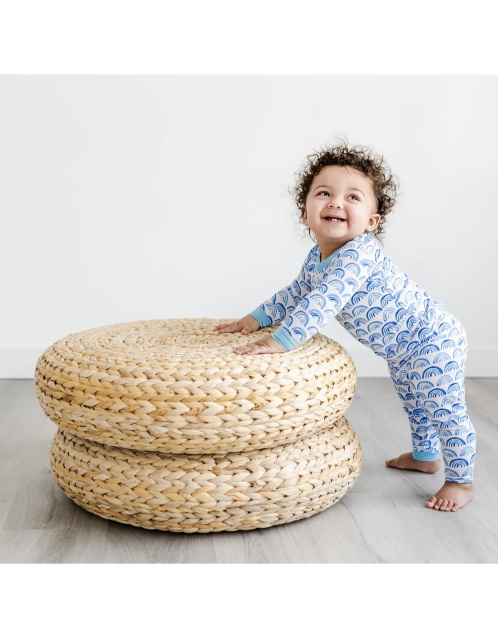Little Sleepies Little Sleepies- Blue Rainbows Two-Piece Bamboo Pajama Set