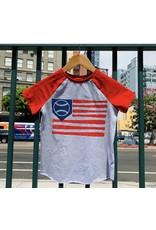 Crumb Snatcher-  Baseball American Flag Tee