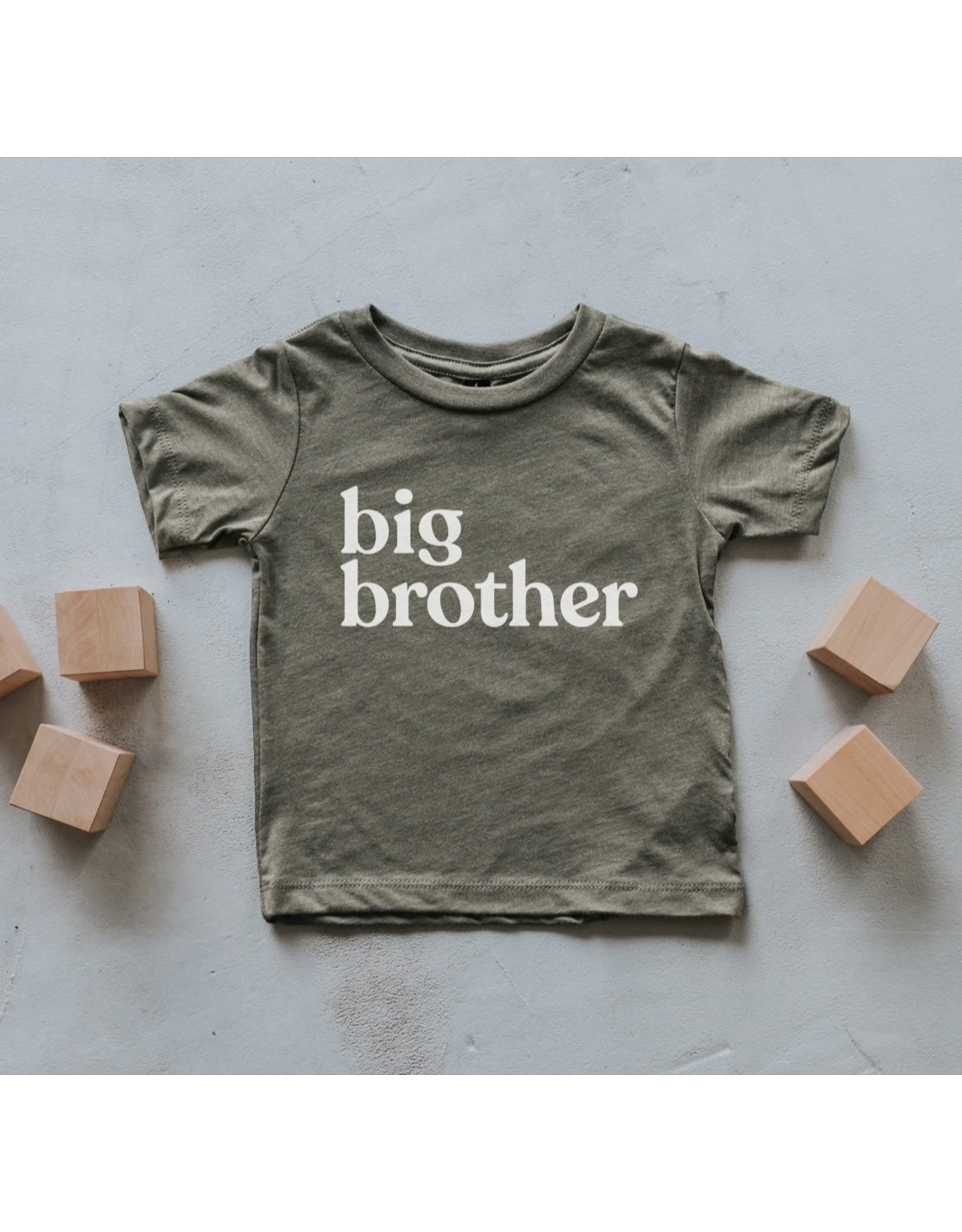 Gladfolk Gladfolk- Olive Big Brother Tee