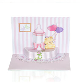 Christian Greetings Christian Greetings- It's a Girl 3D Stand-up Card