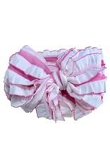In Awe- Bubblegum White Stripe Headband