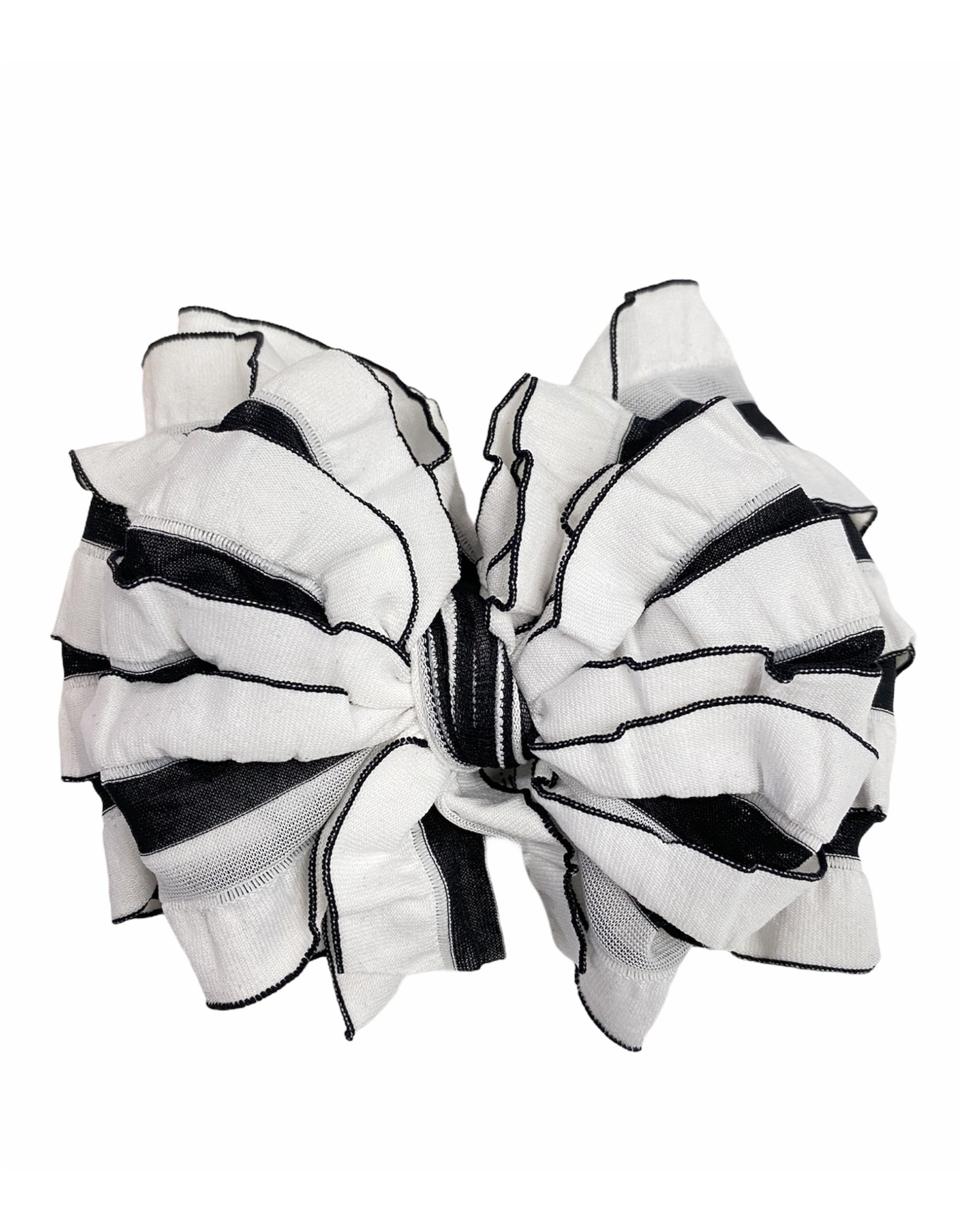In Awe- Black & White Stripe Headband