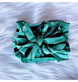 In Awe- Mint & Black Stripe Headband