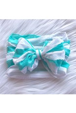 In Awe- Caribbean & White Stripe Headband