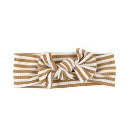 Brave Little Ones Brave Little Ones- Camel Stripe Bow Headband