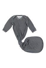 Brave Little Ones Brave Little Ones- Black & White Stripe Knotted Gown 0-3M