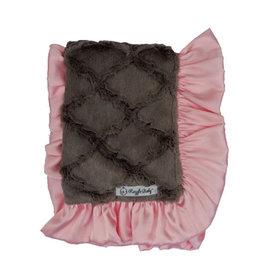 Razzle Baby Razzle Baby- Double Plush Girl Slate Blanket