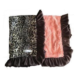 Razzle Baby Razzle Baby- Double Plush Leopard w/Coral Blanket