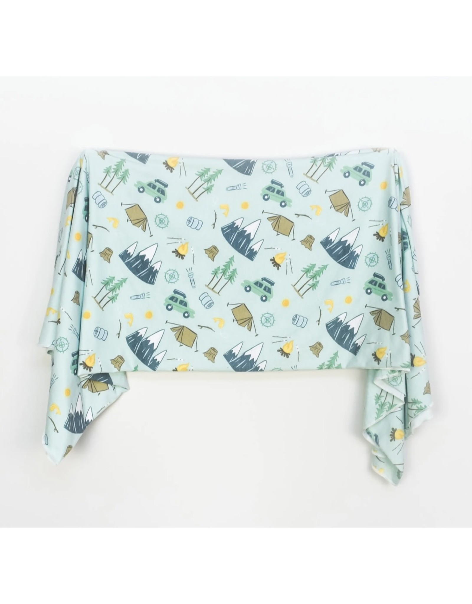 Village Baby Village Baby- Extra Soft Stretchy Knit Swaddle Blanket: Outdoor Adventure