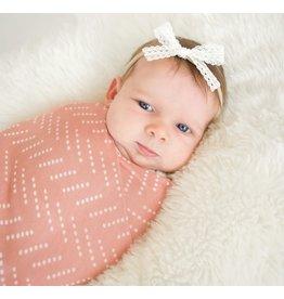 Village Baby Village Baby- Extra Soft Stretchy Knit Swaddle Blanket: Desert Dots