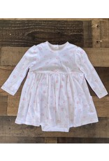 Little Me Little Me- Cream/Pink Bear Bodysuit Dress