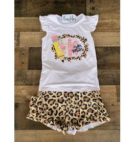 Kindergarten Leopard Short Set- 5/6