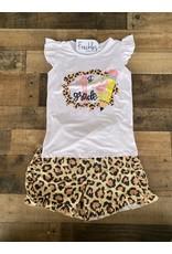1st Grade Leopard Short Set- 6/7