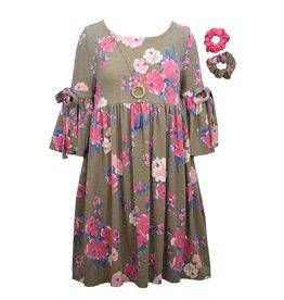 Bonnie  Jean Bonnie Jean- Grey Bell Sleeve Knit Dress