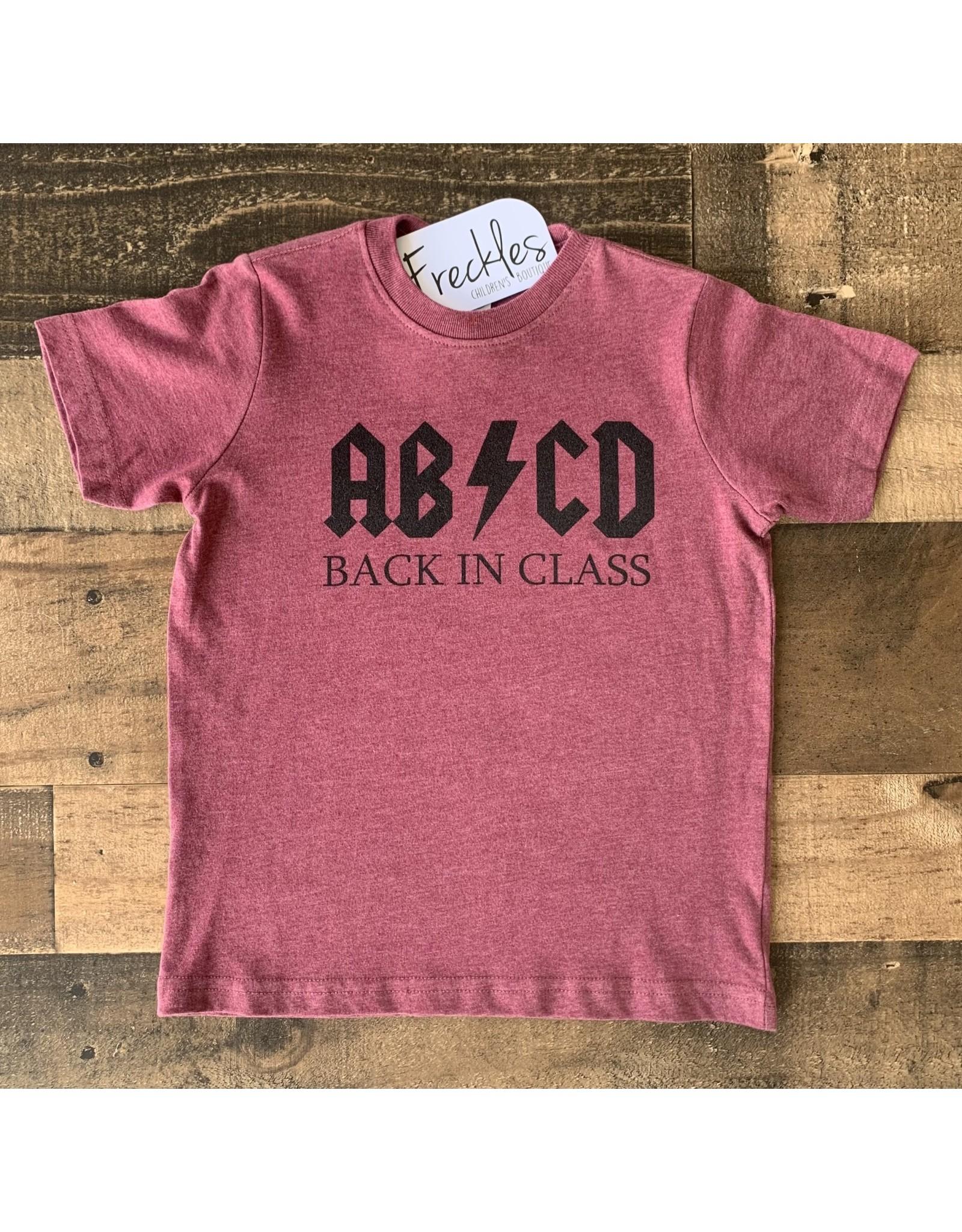 ABCD Back in Class TShirt: Burgundy