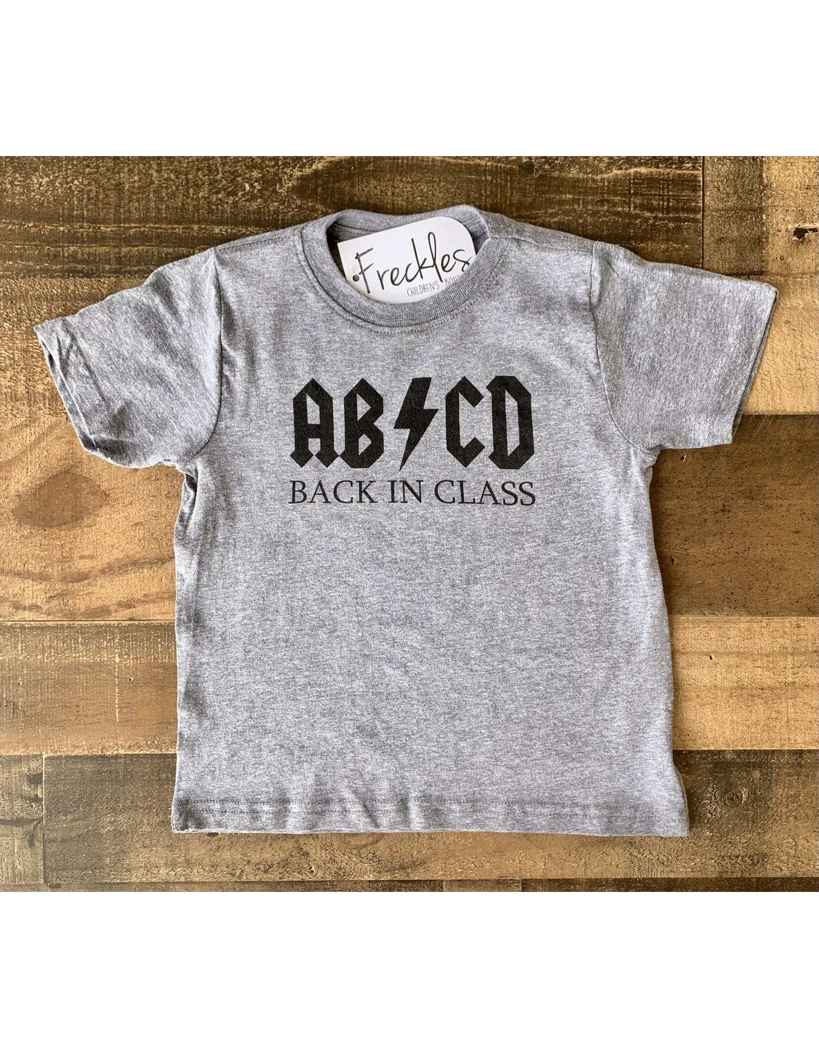 ABCD Back in Class TShirt: Grey