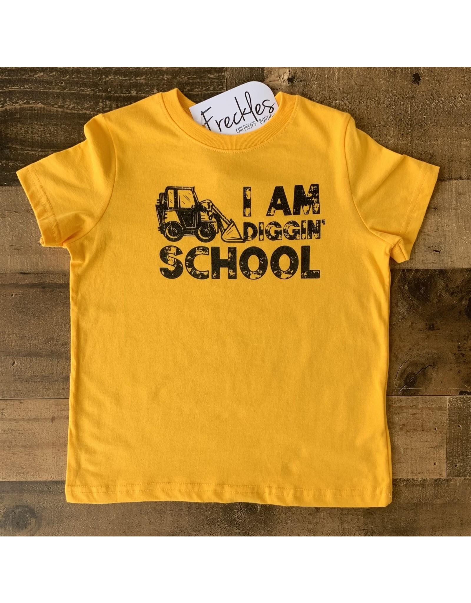 I Am Diggin' School TShirt: Yellow