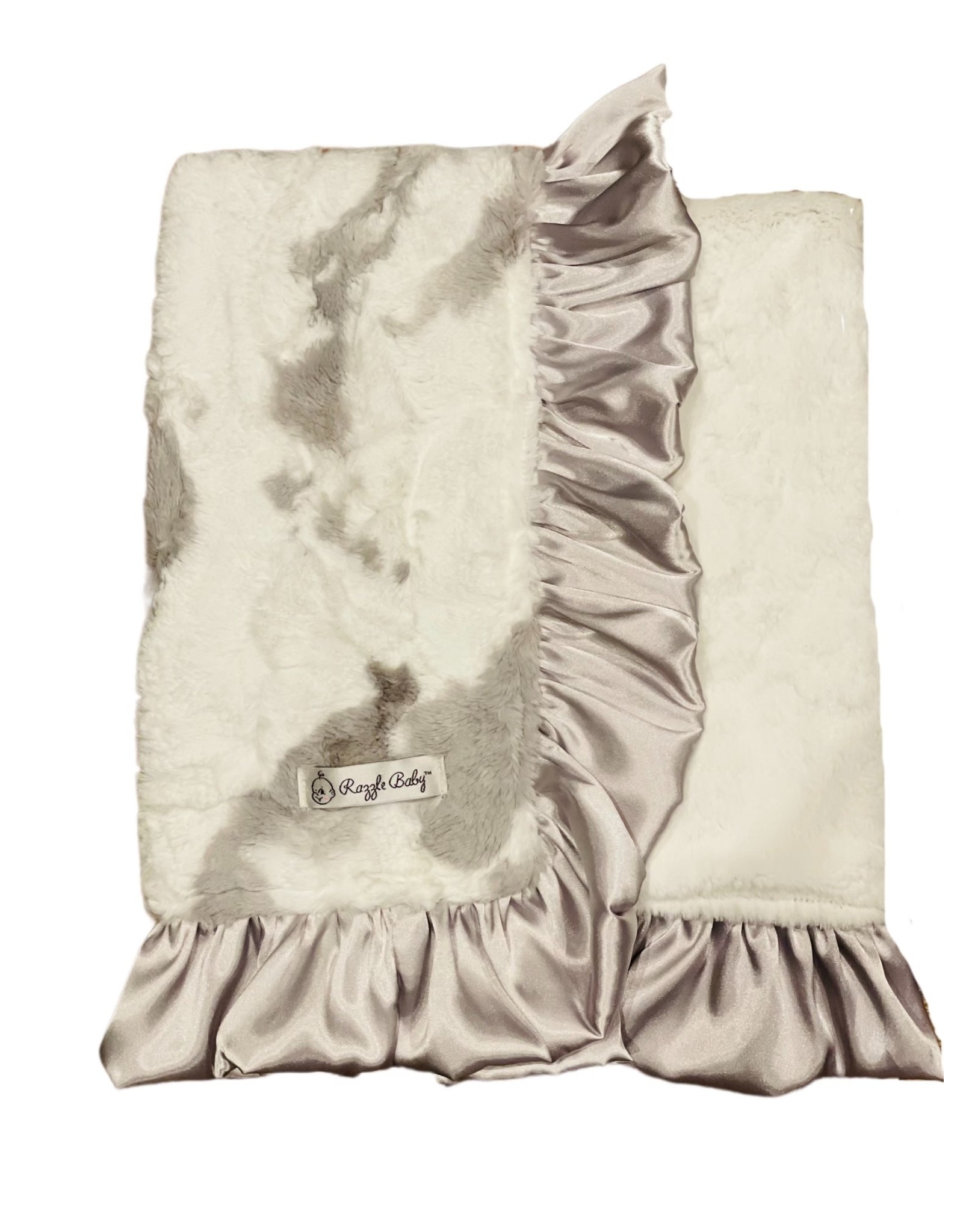 Razzle Baby Razzle Baby- Double Plush Grey Calf Blanket