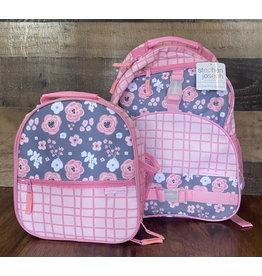 stephen joseph Stephen Joseph - All Over Print Backpack & Lunchbox Set: Charcoal Flower