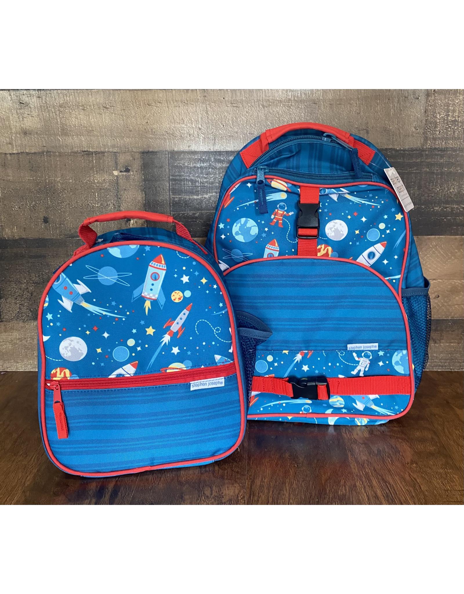 stephen joseph Stephen Joseph - All Over Print Backpack & Lunchbox Set: Space