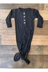 Stroller Society Stroller Society- Black Knotted Gown NB-3M