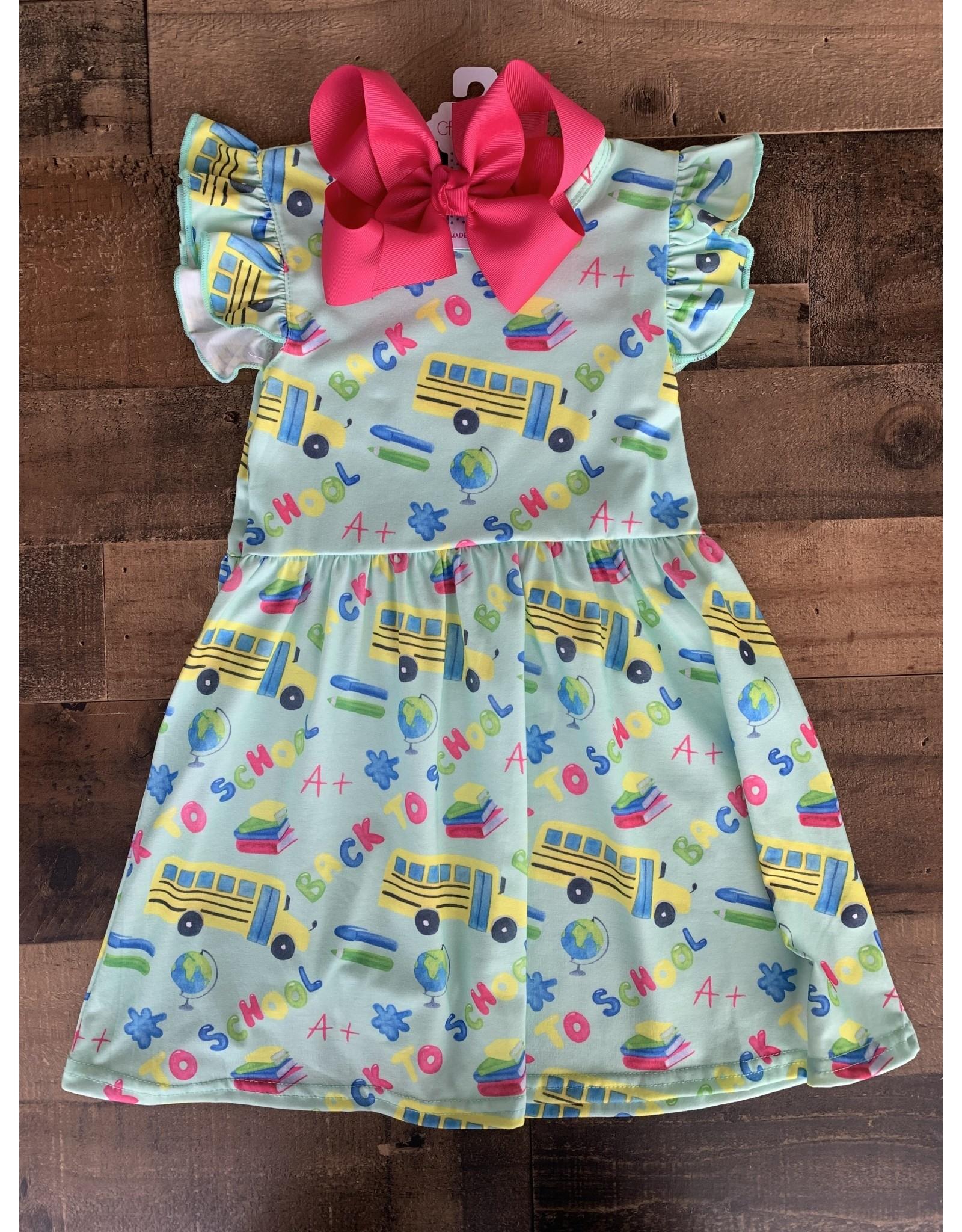 Aqua Back to School Dress