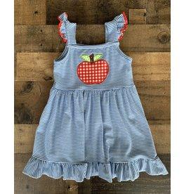 Stripe Apple Applique Dress