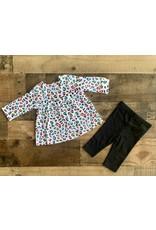 Little Me Little Me- Black Leopard Tunic Set