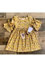 Bonnie  Jean Bonnie Jean-  Mustard Bell Sleeve Knit Dress