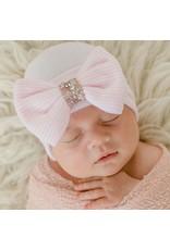 ILYBEAN Ily Bean- Pink Striped Crystal Bow