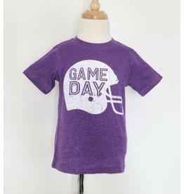 GAME DAY Helmet Tee: Purple