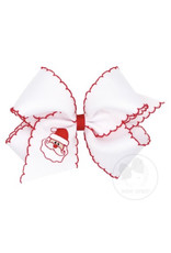 Wee Ones- King Moonstitch Santa Bow