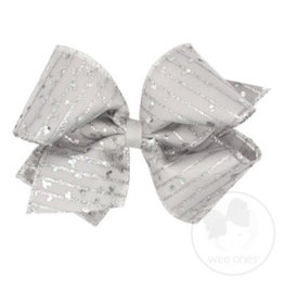 Wee Ones- King Silver Sparkle Overlay Bow