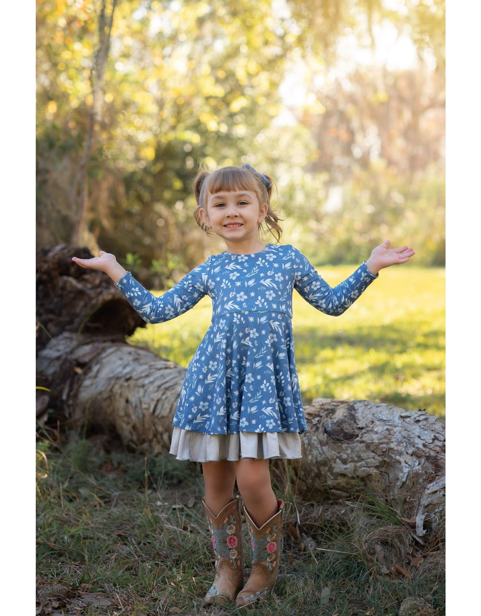 Evie's Closet- Fall Floral Reversible Dress