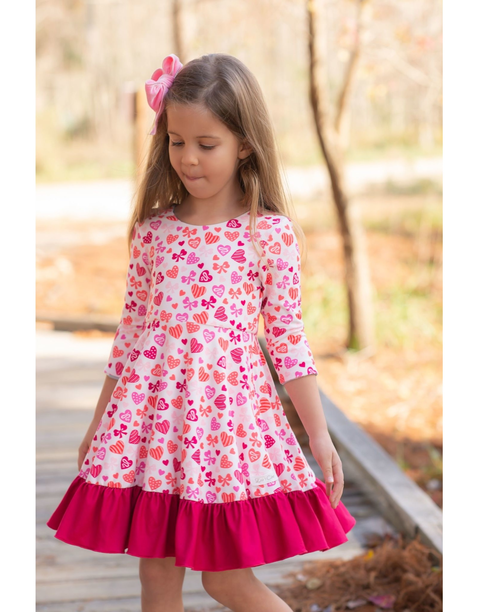 Evie's Closet- Christmas/Valentines Reversible Dress
