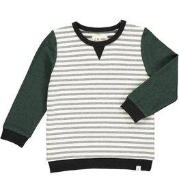 Me & Henry Me & Henry- Obion Sweatshirt: Black/Green/Cream
