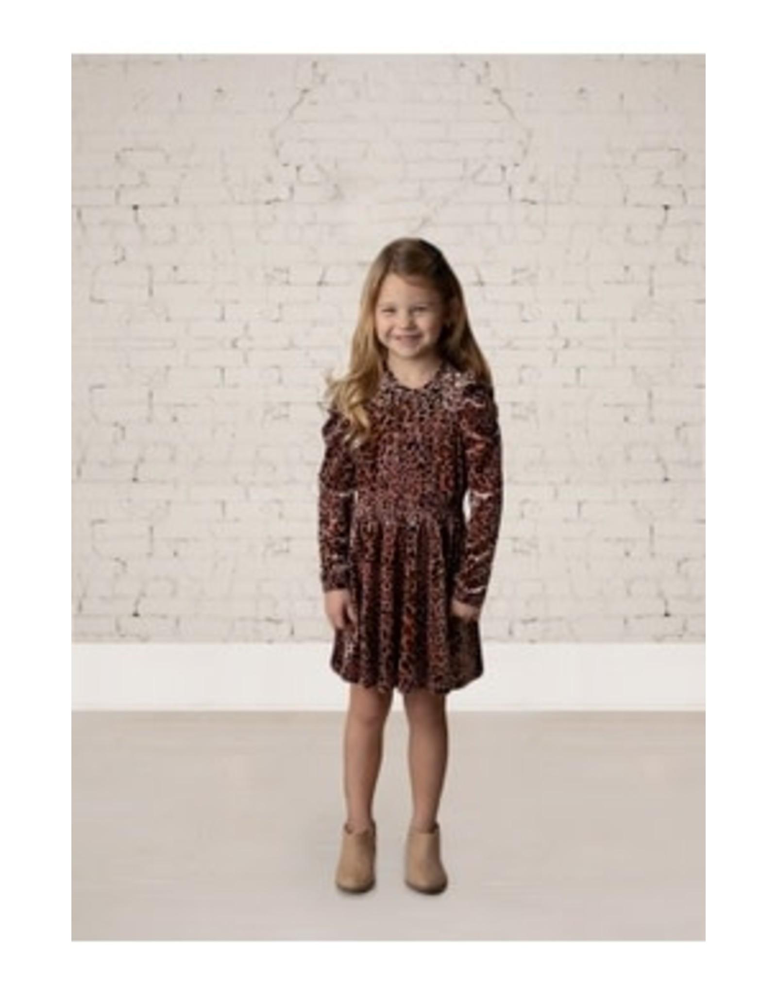 Isobella & Chloe Isobella & Chloe- Wild Thing Velvet Empire Waist Dress: Pink