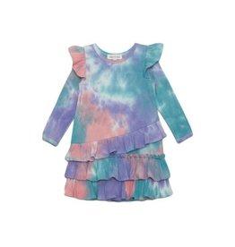 Isobella & Chloe Isobella & Chloe- Rainbow Sherbert Tie Dye Knit Dress