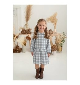 Mabel & Honey Mabel & Honey- Sweet Lullaby Plaid Woven Dress