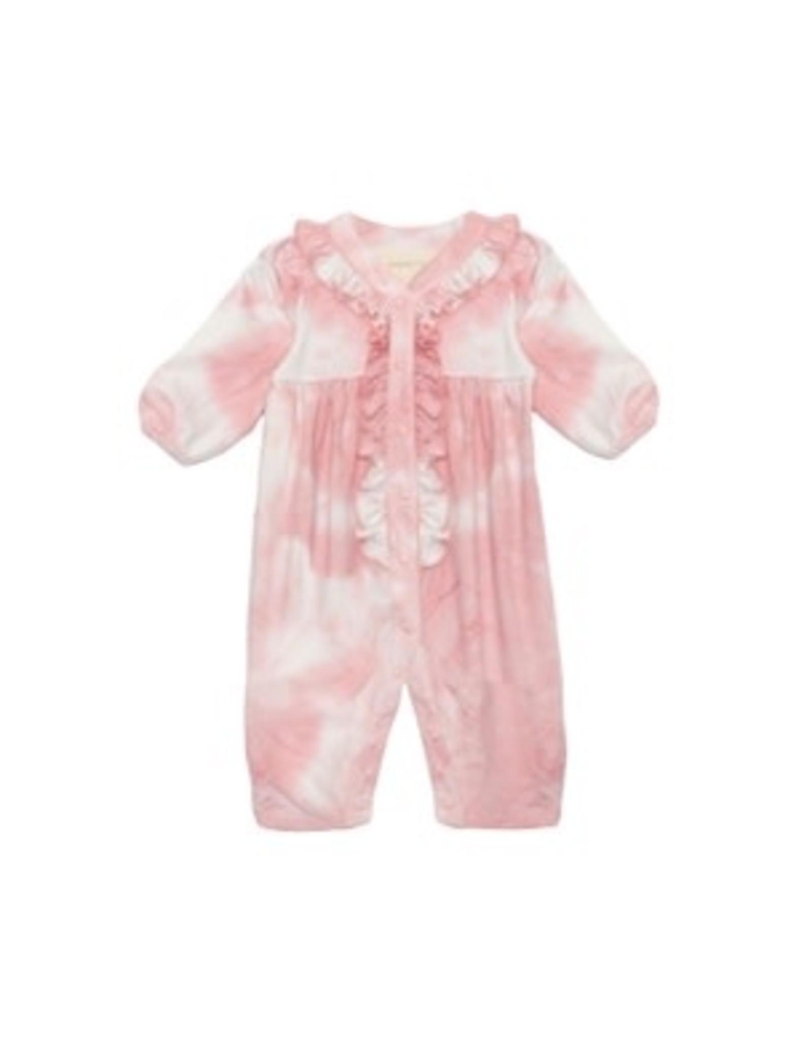 Mabel & Honey Mabel & Honey- Little Lovely Knit Romper: Pink