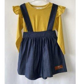 Millie Jay Millie Jay- Denim & Mustard Dot Jumper Dress