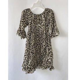 Millie Jay Millie Jay- Leopard Bell Sleeve Dress