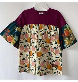 Millie Jay Millie Jay- Pumpkin Floral Bell Sleeve Dress